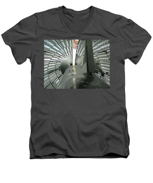 Men's V-Neck T-Shirt featuring the photograph X-37b Orbital Test Vehicle by Science Source