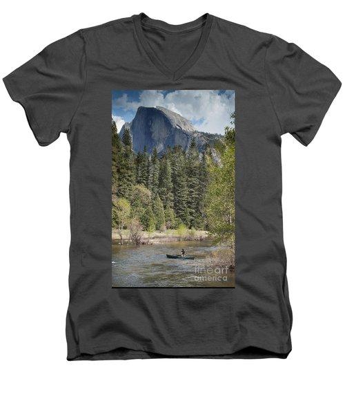 Yosemite National Park. Half Dome Men's V-Neck T-Shirt by Juli Scalzi