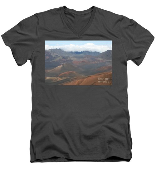 Haleakala Volcano Maui Hawaii Men's V-Neck T-Shirt by Sharon Mau