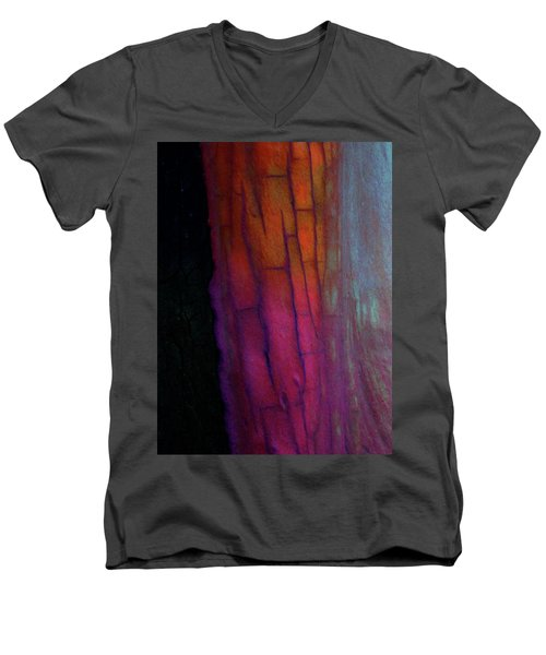 Men's V-Neck T-Shirt featuring the digital art Enter by Richard Laeton