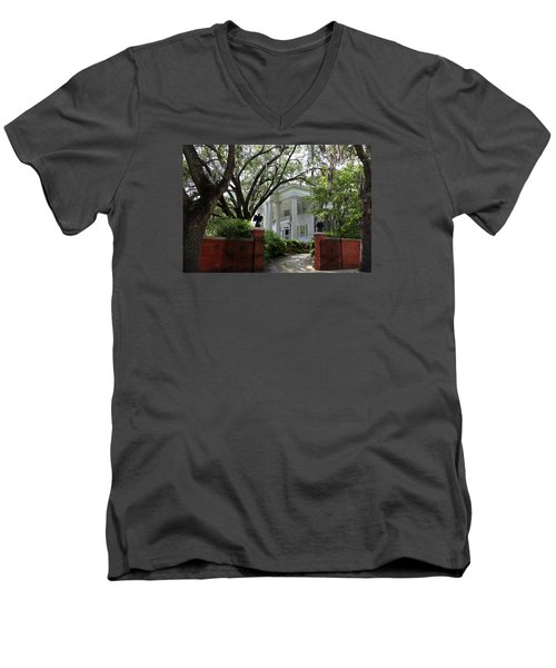 Southern Living Men's V-Neck T-Shirt by Karen Wiles