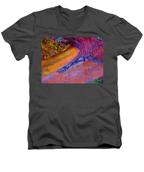 Men's V-Neck T-Shirt featuring the digital art Waking Up by Richard Laeton