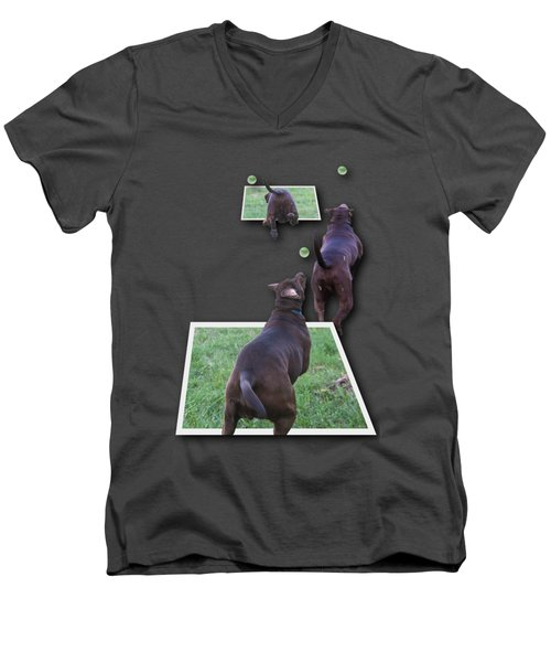 Keep Your Eye On The Ball Men's V-Neck T-Shirt by Roger Wedegis
