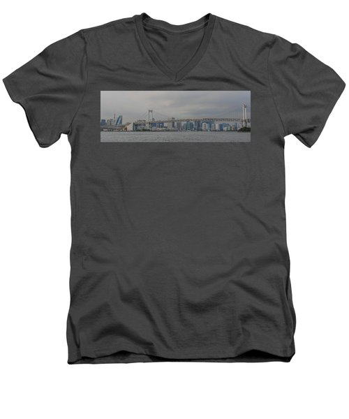 Rainbow Bridge Men's V-Neck T-Shirt by Megan Martens