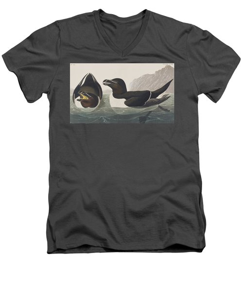 Razor Bill Men's V-Neck T-Shirt by John James Audubon