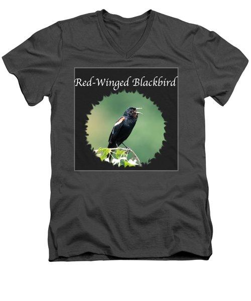 Red-winged Blackbird Men's V-Neck T-Shirt by Jan M Holden