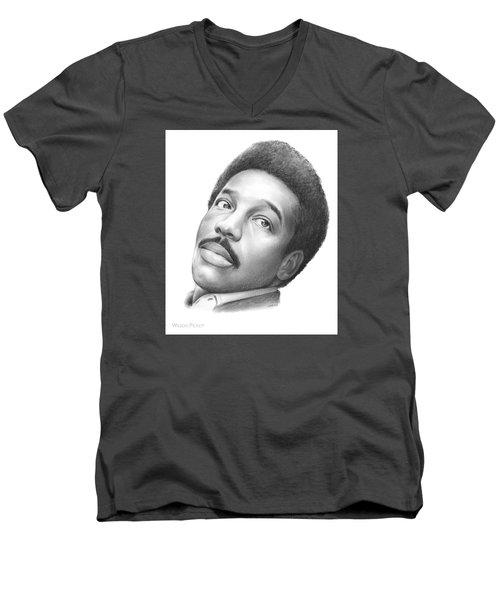 Wilson Pickett Men's V-Neck T-Shirt by Greg Joens