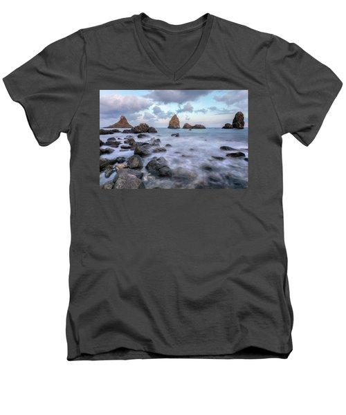 Aci Trezza - Sicily Men's V-Neck T-Shirt by Joana Kruse