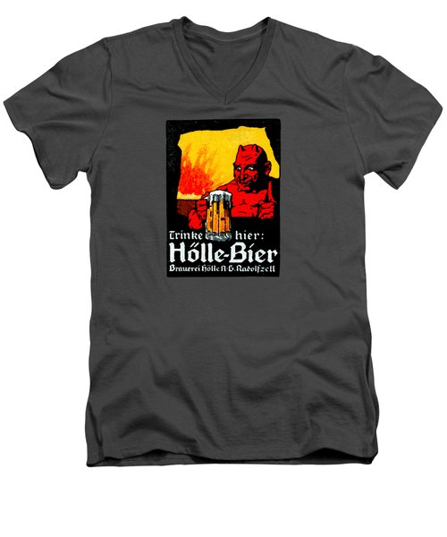 1905 German Beer Poster Men's V-Neck T-Shirt by Historic Image