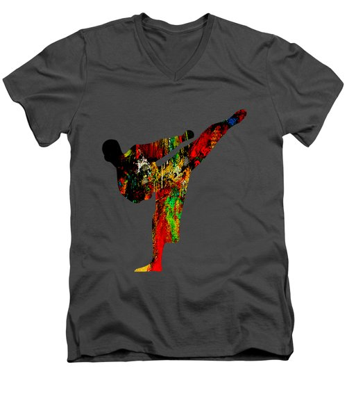 Martial Arts Collection Men's V-Neck T-Shirt by Marvin Blaine