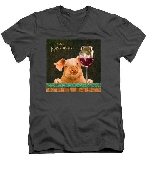 Pigot Noir... Men's V-Neck T-Shirt by Will Bullas