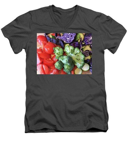 Raw Ingredients Men's V-Neck T-Shirt by Tom Gowanlock