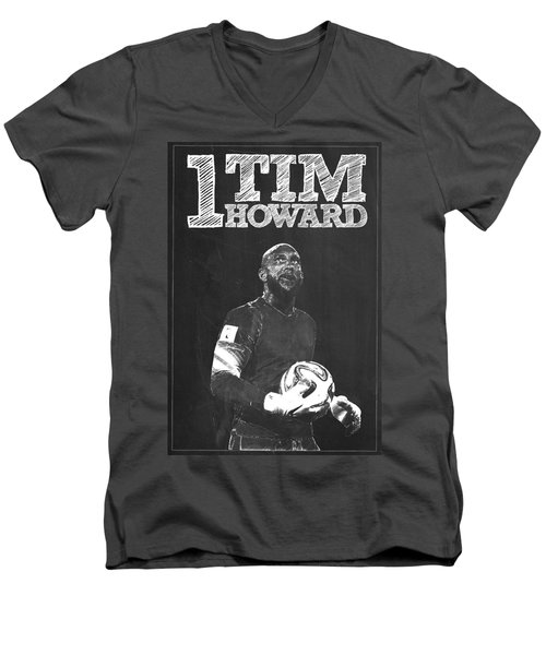 Tim Howard Men's V-Neck T-Shirt by Semih Yurdabak