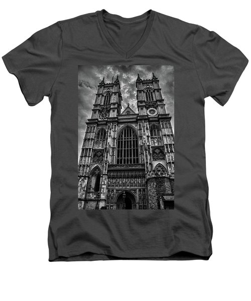 Westminster Abbey Men's V-Neck T-Shirt by Martin Newman