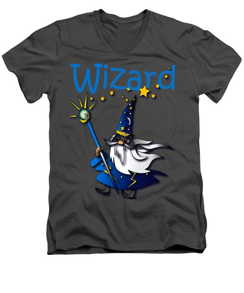 Wizard Men's V-Neck T-Shirt by Jean Habeck