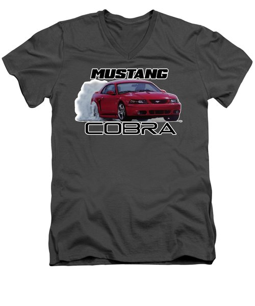 2004 Mustang Cobra Men's V-Neck T-Shirt by Paul Kuras