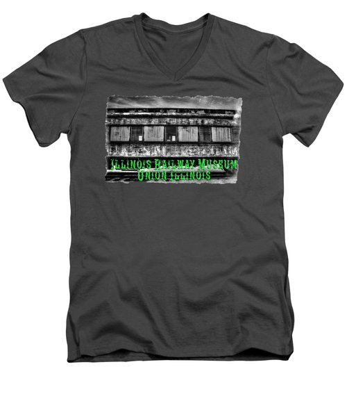 Abandoned Circus Transport Car Men's V-Neck T-Shirt by Roger Passman