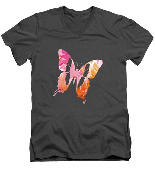 Abstract Paint Pattern Men's V-Neck T-Shirt by Christina Rollo