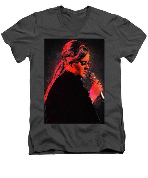 Adele Men's V-Neck T-Shirt by Semih Yurdabak