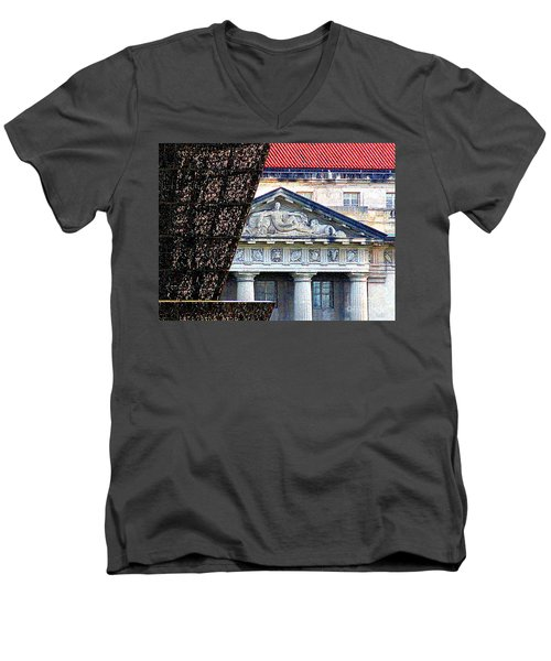African American History And Culture 5 Men's V-Neck T-Shirt by Randall Weidner