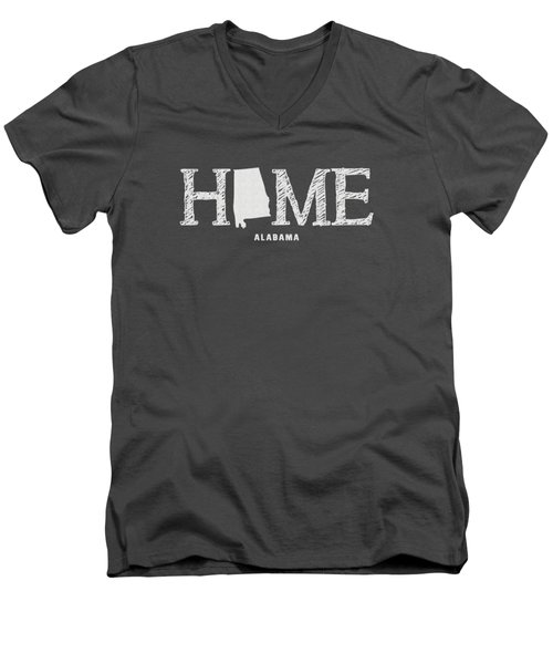 Al Home Men's V-Neck T-Shirt by Nancy Ingersoll