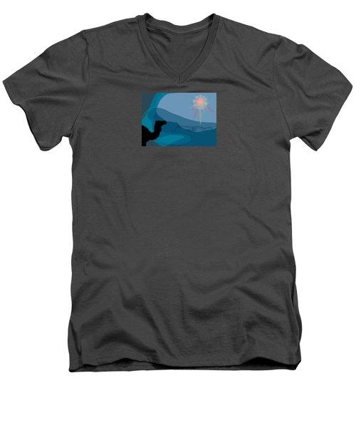Alexander Epiphany A Men's V-Neck T-Shirt by Stan  Magnan