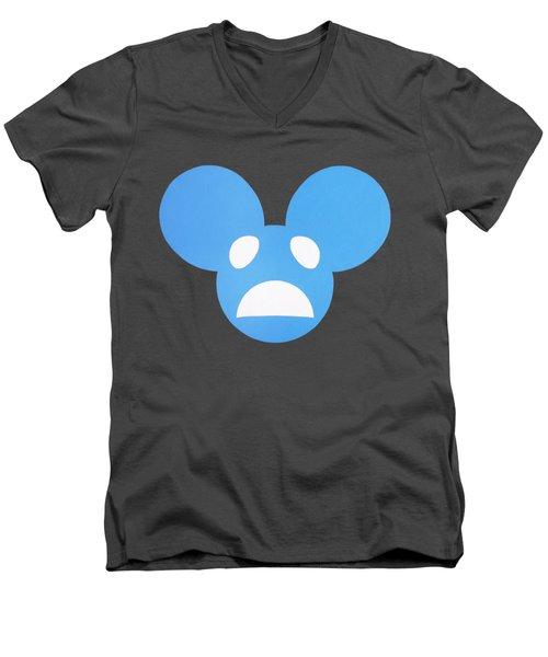 Alivemau6 Remix Men's V-Neck T-Shirt by Oliver Johnston