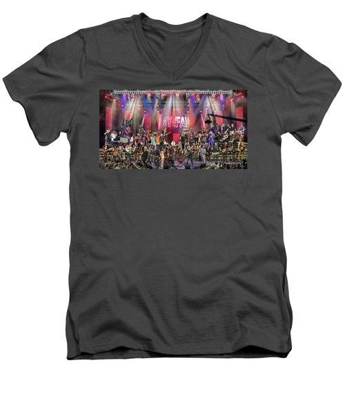 All Star Jam Men's V-Neck T-Shirt by Don Olea