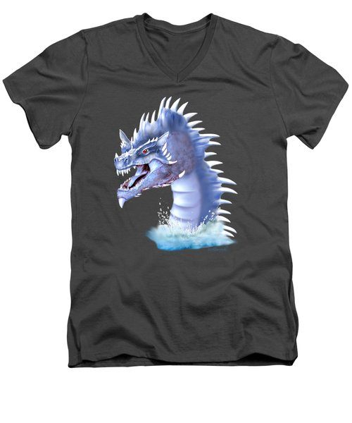 Arctic Ice Dragon Men's V-Neck T-Shirt by Glenn Holbrook