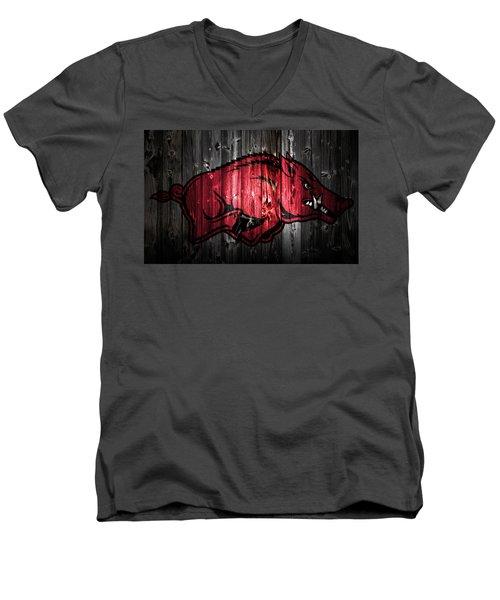 Arkansas Razorbacks 2a Men's V-Neck T-Shirt by Brian Reaves