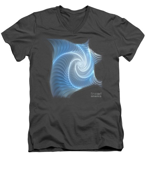 Glowing Spiral Men's V-Neck T-Shirt by Anastasiya Malakhova