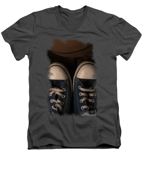 Time To Play Men's V-Neck T-Shirt by Eugene Campbell