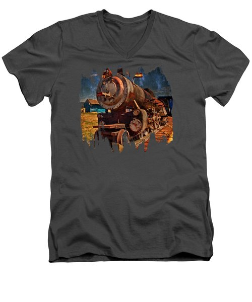 Old 44 Men's V-Neck T-Shirt by Thom Zehrfeld