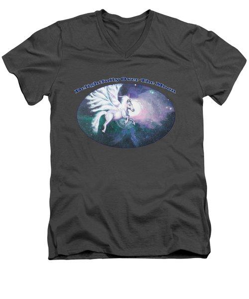 Unicorn And The Universe Men's V-Neck T-Shirt by Artist Nandika  Dutt