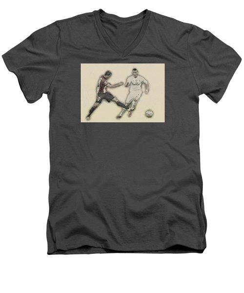 Athletic Club  Vs Real Madrid Men's V-Neck T-Shirt by Don Kuing