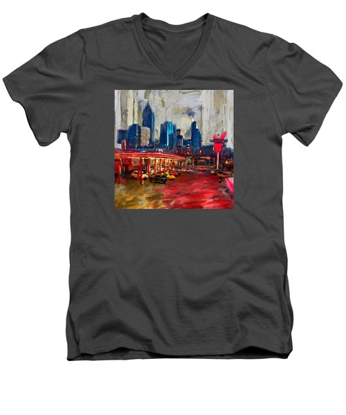 Atlanta Skyline 231 1 Men's V-Neck T-Shirt by Mawra Tahreem