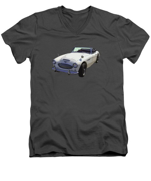 Austin Healey 300 Classic Convertible Sportscar  Men's V-Neck T-Shirt by Keith Webber Jr
