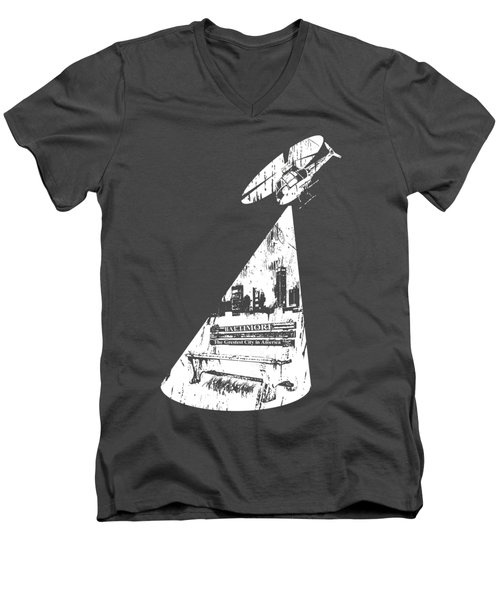 Baltimore Helicopter Men's V-Neck T-Shirt by Brendan Gilligan