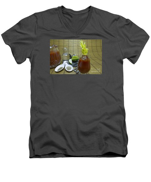 Bloody Mary Cocktail With Ingredients Men's V-Neck T-Shirt by Karen Foley