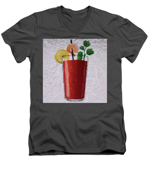 Bloody Mary Emoji Men's V-Neck T-Shirt by  Judy Bernier