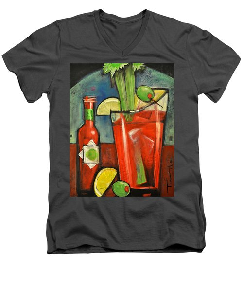 Bloody Mary Men's V-Neck T-Shirt by Tim Nyberg