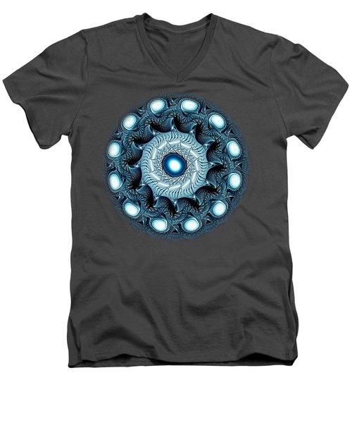 Blue Circle Men's V-Neck T-Shirt by Anastasiya Malakhova