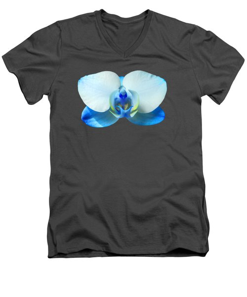 Blue Orchid 1 Men's V-Neck T-Shirt by Scott Carruthers
