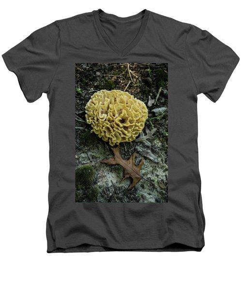 Brain Or Cauliflower Fungus Men's V-Neck T-Shirt by Douglas Barnett