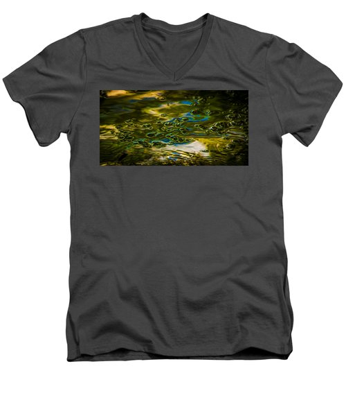 Bubbles And Reflections Men's V-Neck T-Shirt by Marvin Spates