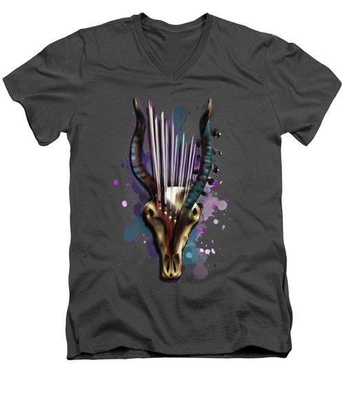 Capricorn Men's V-Neck T-Shirt by Melanie D