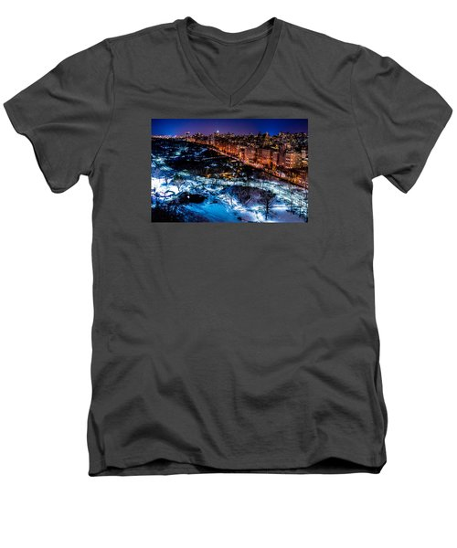 Men's V-Neck T-Shirt featuring the photograph Central Park by M G Whittingham