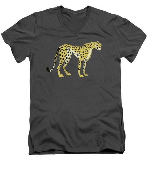 Cheetah Men's V-Neck T-Shirt by Wild Kratts