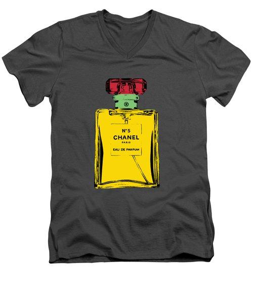 Chnel 2 Men's V-Neck T-Shirt by Mark Ashkenazi