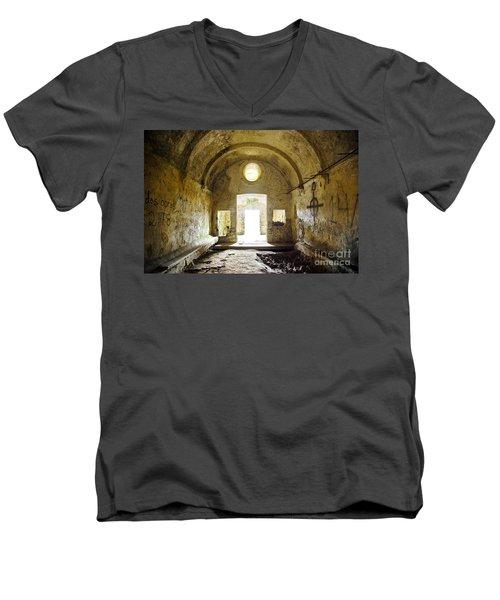 Church Ruin Men's V-Neck T-Shirt by Carlos Caetano